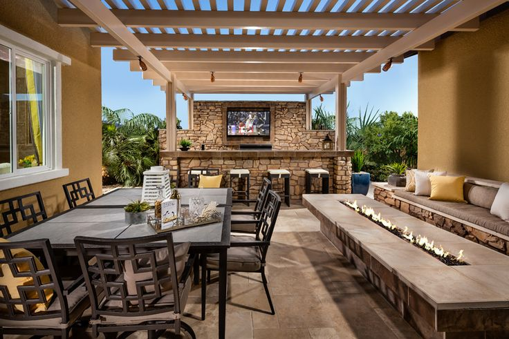 toll brothers the ravello courtyard inspirada newhomes patio outdoor entertaining