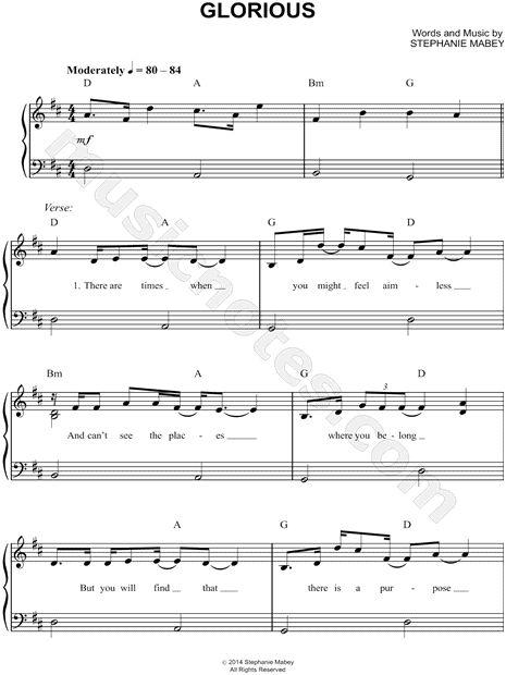 Glorious david archuleta piano chords