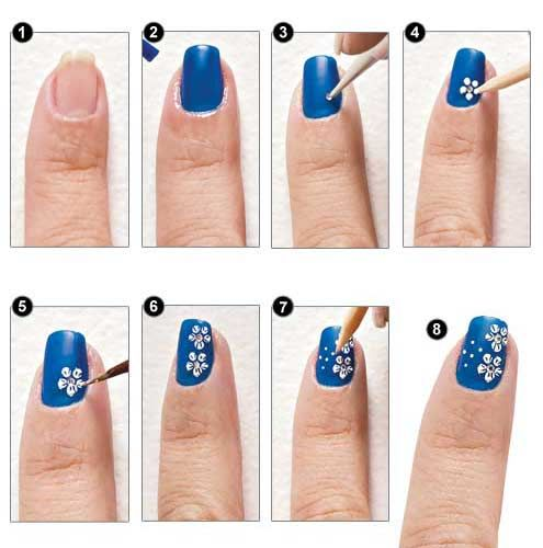Nail designs with instructions