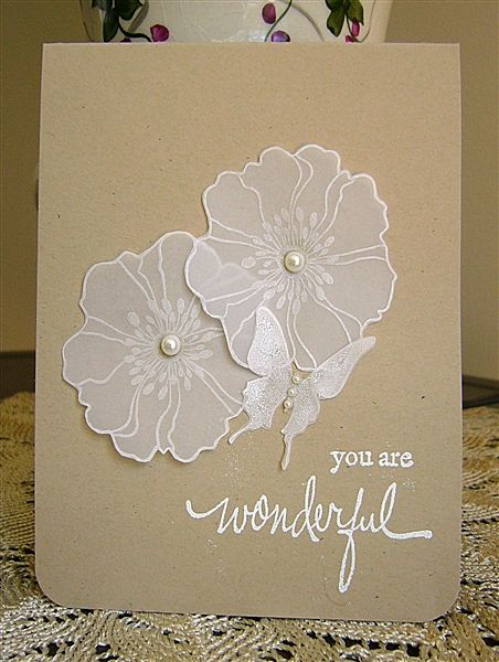 Floral Duet in Vellum--simple but very effective!