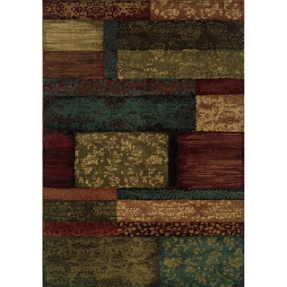 Indoor Brown/ Teal Area Rug   Overstock.com - Possibility for my living room...