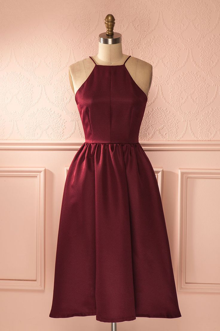 17 best ideas about burgundy midi dress on pinterest for Red midi dress wedding guest