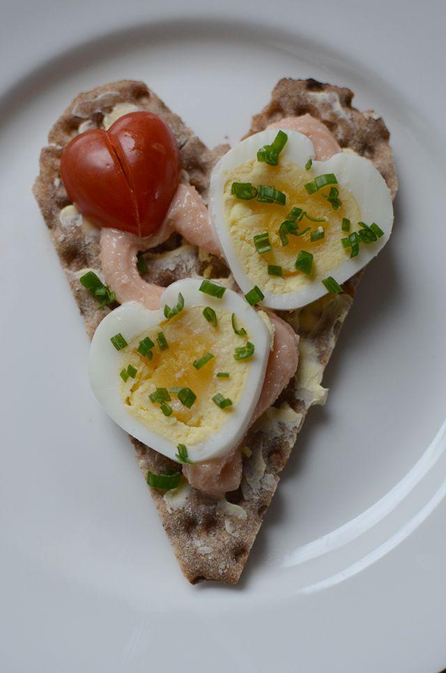 smörgås till alla hjärtans dag, swedish sandwich for valenitine Hemma med Helena | Bloggar om pyssel, mat, bak och hemmafix