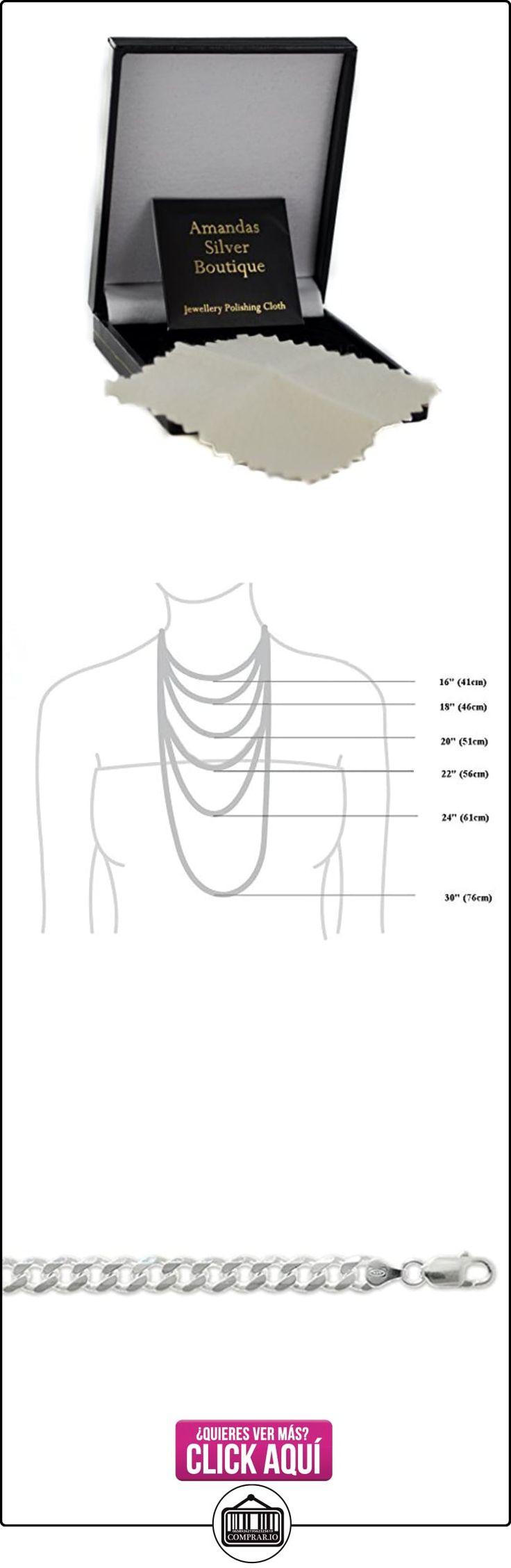 Broche de plata de ley Cadena de collar con colgante en forma - 7 mm de grosor - varias longitudes - 18, 20, 22, 24, 26, 28 y 76,2 cm largo  ✿ Joyas para hombres especiales - lujo ✿ ▬► Ver oferta: https://comprar.io/goto/B015S01YVK