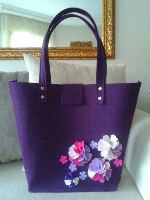 Keçe çanta - felt bag