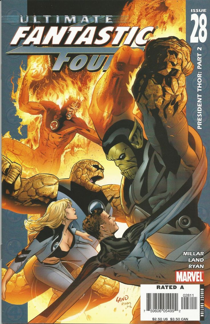 ULTIMATE FANTASTIC FOUR/PREZIDENT THOR.PART.2/NR.28/2006 FIRST PRINTING, CONDITION-MINT 9.9/PRIMA EDITIE, CONDITIE- MINT 9.9 #comics #marvel #fantastic #four #thor #collectable
