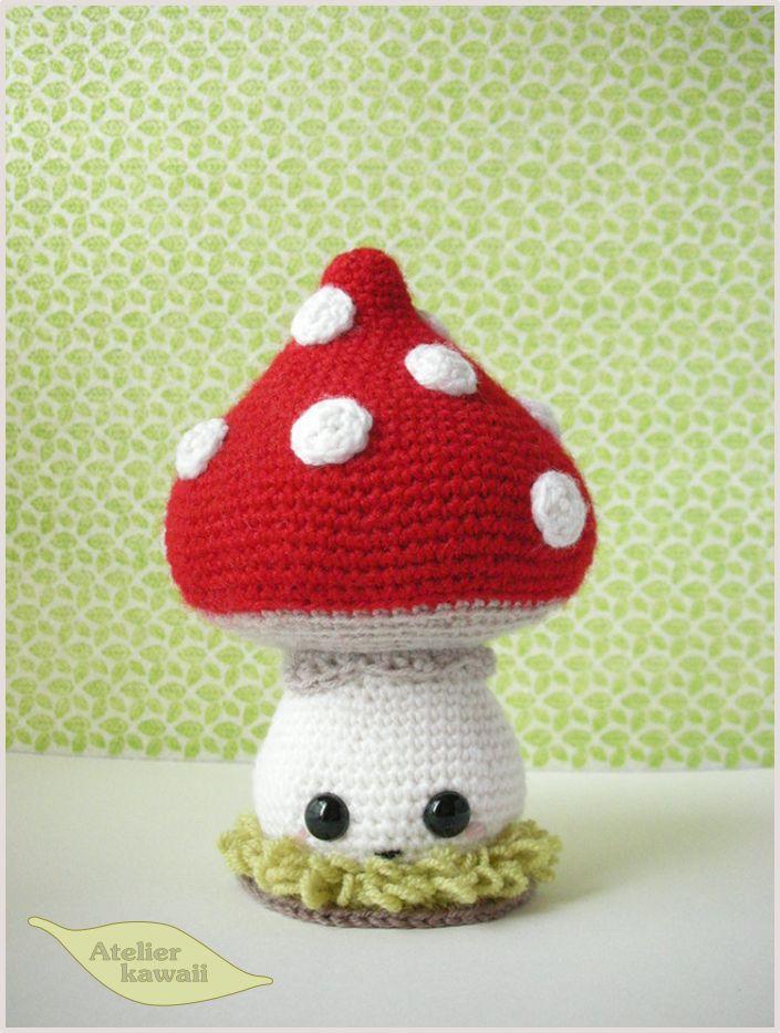 Champy, le champignon au crochet. Free pattern.