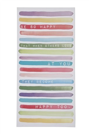 Buy Happy Phrase Pastel Canvas Extra Large from the Next UK online shop  £80