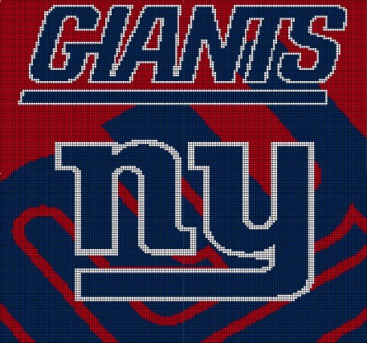 Ny Giants Crochet Afghan Pattern : 94 best images about graphgans on Pinterest Perler bead ...