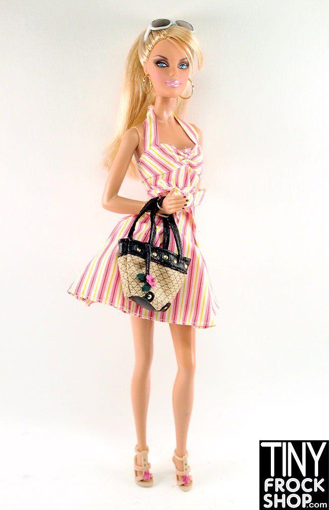Barbie Top Model Resort Blonde Pre Loved Dressed Doll In 2020 Barbie Top Tiny Frock Shop Model