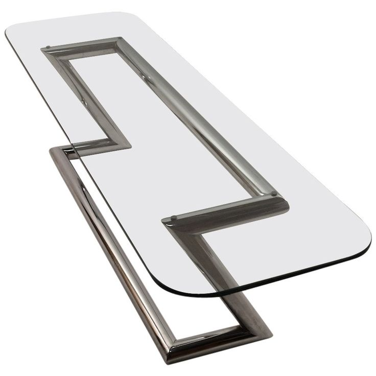 Tubular Chrome Base Plate Glass top Cocktail Table For Sale