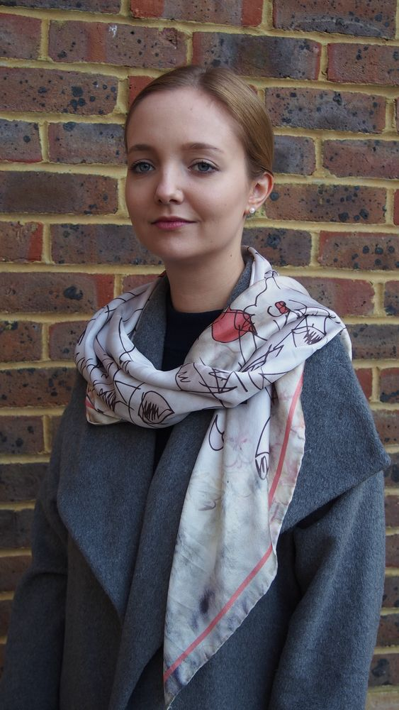 Mari Lwyd and The Foxes Digitally Printed Large Silk Scarf, Wrap or Shawl £160.00