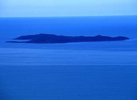 Isola di Giannutri: veduta aerea