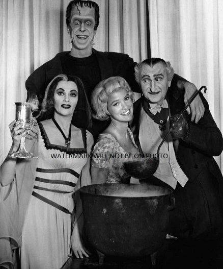 The Munsters Cast Cooking Portrait 1960's TV Show