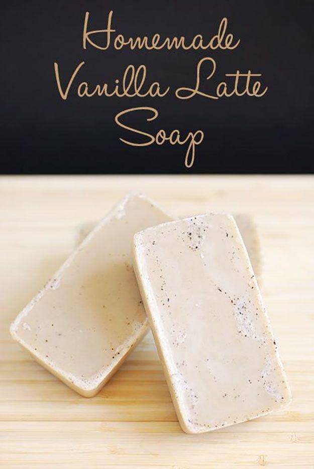 DIY Soap making and recipes! Homemade Vanilla Latte Soap | http://diyready.com/18-incredible-homemade-soap-ideas-how-to-make-homemade-soap/