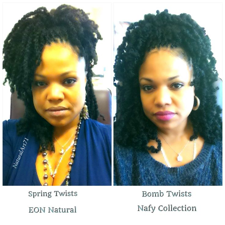 Spring Twists by EON Hair verses Bomb Twists by Nafy Collection...the battle continues!!