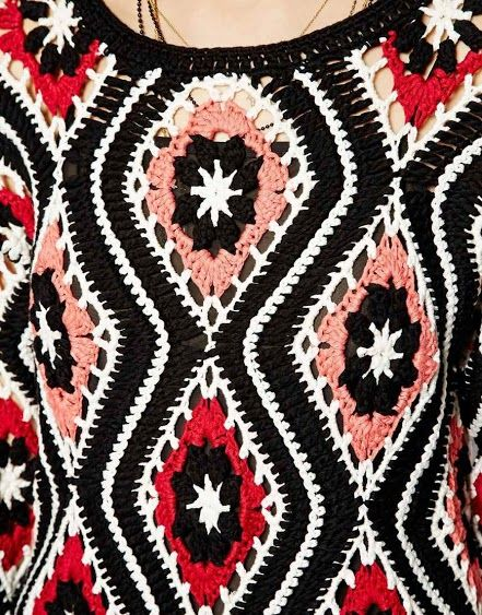 Outstanding Crochet: Patchwork Crochet Dress from Asos.