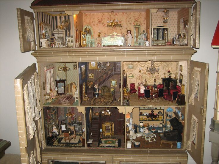 1000 Images About Antique Doll House Collection On