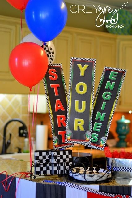 "Photo 1 of 47: Race Car Party, NASCAR / Birthday ""Two-lladega 2nd Birthday"" 
