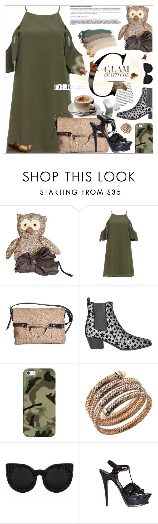 """""""DLRBOUTIQUE.COM"""" by mirachu-1 on Polyvore featuring Borbonese, DailyLook, Parra, Yves Saint Laurent, Casetify, Roberto Coin and Gucci"""