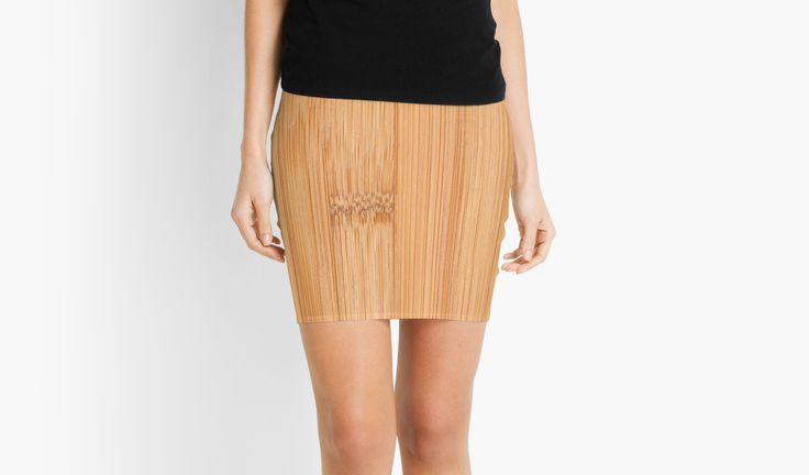 Cool Bamboo wood print Mini Skirt by #PLdesign #cool #wood #bamboo #redbubble