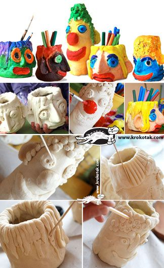salt dough Pencilholder