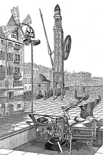 LES DESSOUS DE LA VILLE (1985)Francis MassePlace Cervantes: La centrale eolienne de tauromachie (by arthurvankruining)
