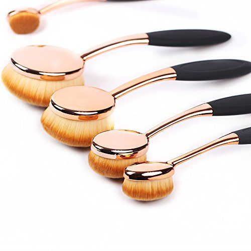 Oval Makeup Brush Set ,10 Pcs Professional Oval Toothbrush Makeup Brushes Concealer Eyeliner Blending Cosmetic Brushes Tool Set. For product & price info go to:  https://beautyworld.today/products/oval-makeup-brush-set-10-pcs-professional-oval-toothbrush-makeup-brushes-concealer-eyeliner-blending-cosmetic-brushes-tool-set/