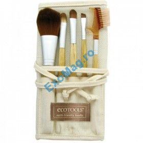 Trusa 5 pensule EcoTools Bamboo - http://exomag.ro/pensule-machiaj-profesionale-makeup/set-5-pensule-machiaj-ecotools-bamboo.html