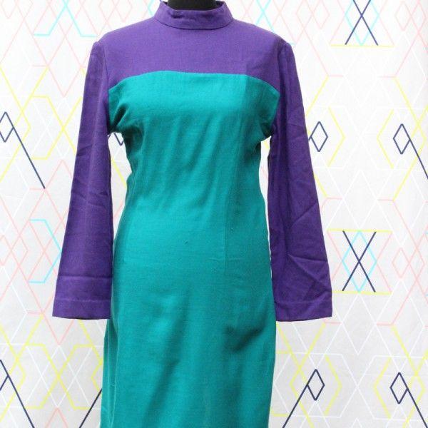 Green & Purple dress   devil wears vintage