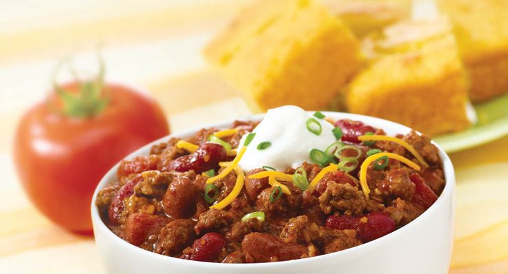 McCormick® Chili Seasoning Mix is a zesty blend of authentic seasonings, including chili peppers, that makes preparing delicious chili a snap. #mccormickspices #recipe