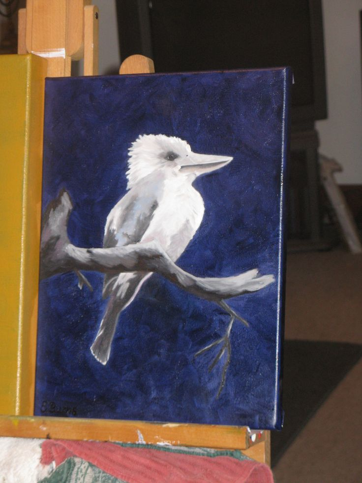 """This is another Australian Kookaburra which I have called """"Kookaburra by moonlight"""". Still have to get this and a few others framed. Framing costs HEAPS but make them look so much more professional I think."""