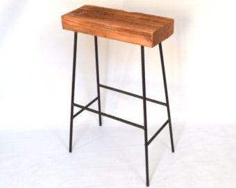 industrial bar stool – Etsy
