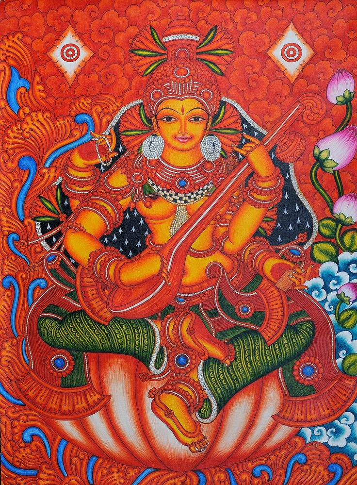 1000 images about temple mural on pinterest murals for Mural art of ganesha