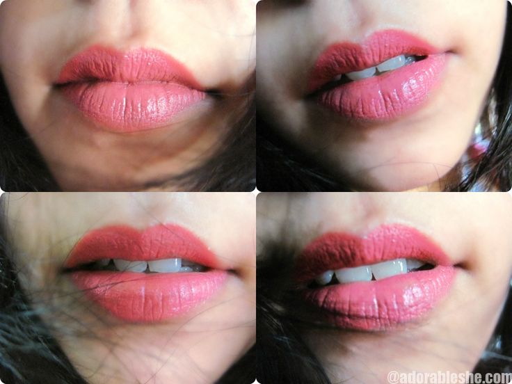 Lakme 9 to 5 Lipstick in Shade Pink Colar Review and Swatches - Adorable She