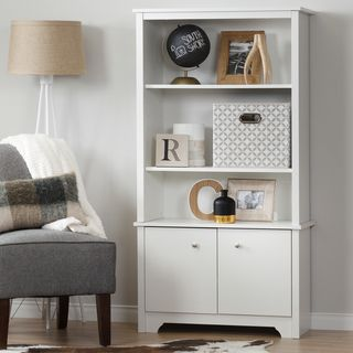 South Shore Vito 3-Shelf Bookcase with Doors | Overstock.com Shopping - The Best Deals on Office Storage & Organization