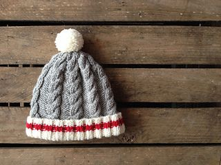 Canada's hardest worker, the lumberjack, inspired this cable toque. Babies also have lots of hard work to do and this hat is a must to keep them cozy and warm. Knit it with 100% for an incredible soft finish.