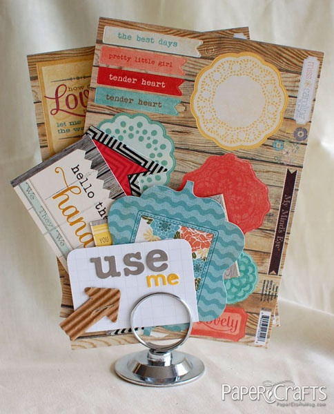 Use a place card holder for things you want to use soon!