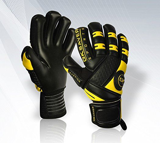 GK Saver Negative Cut Football Goalkeeper Gloves Goalkeeping Goali Pros Semi Pros Junior Begginer Professional Gloves Size (YES Finger Protection NO Personalization, 11 Adult)