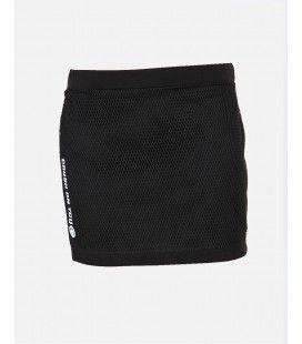 Crush Denim Black&White 17 Skirt with Mesh