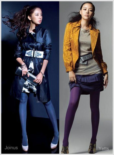 How to wear bold color tights in a mature way