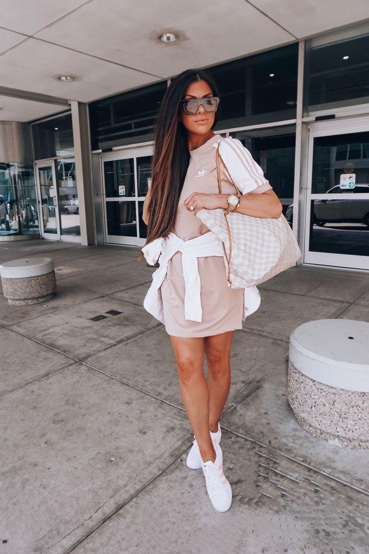 cute airport outfit idea fashion pinterest 2018, adidas