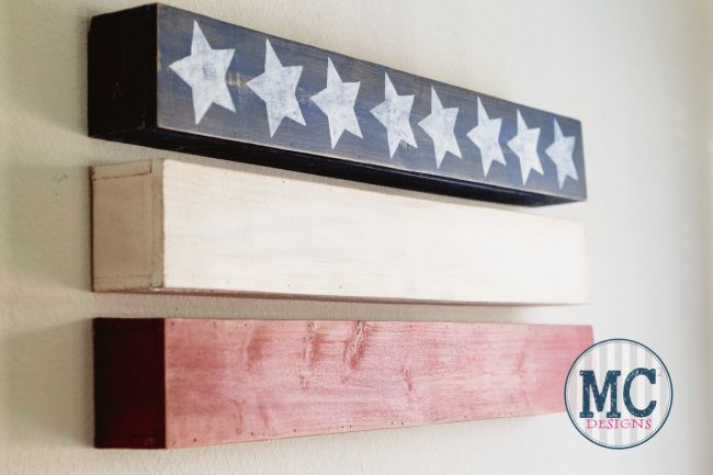 DIY Contemporary American Flag Art