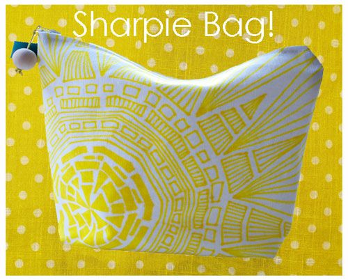 Sharpie Bag. I love this idea. Thinking about doing a Sherlock or Doctor Who bag.