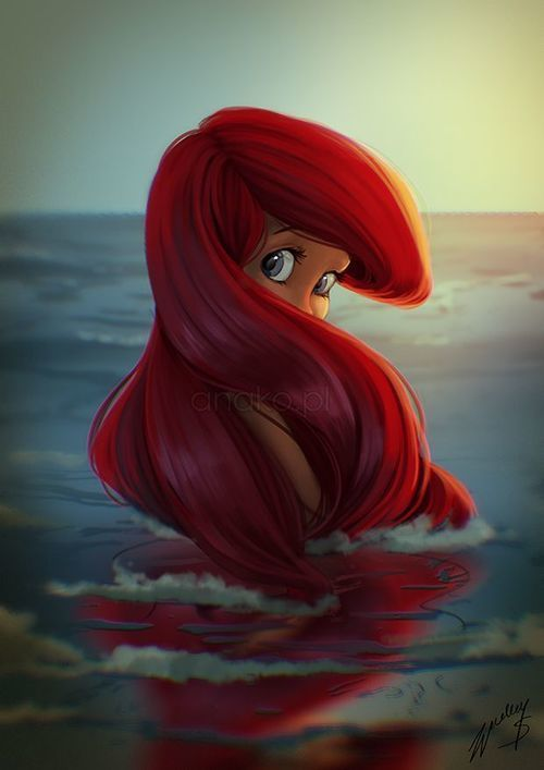 The only reason i would have for dying my hair red would be in order to look like Ariel, and here is a good picture to say why!