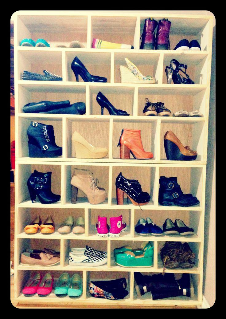 homemade shoe rack display you can see all your shoes for outfits rather