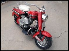 1963 Cushman Super Silver Eagle in Red.
