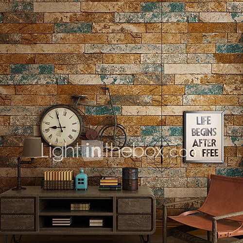 Art Deco 3D Wallpaper For Home Contemporary Wall Covering , Other Material Adhesive required Wallpaper , Room Wallcovering 5640164 2017 – $35.09