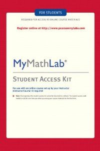This access kit will provide you with a code to get into MymathLab. $64