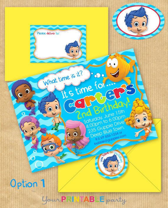 25 Best Ideas About Bubble Guppies Invitations On Pinterest Bubble Guppies Baby Goldfish And